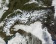 Les Alpes couvertes de neige - source : modis.gsfc.nasa.gov