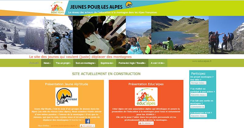 Site jeunes-pour-les-alpes.fr